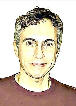 Cartoon Portrait of Peter Loizou